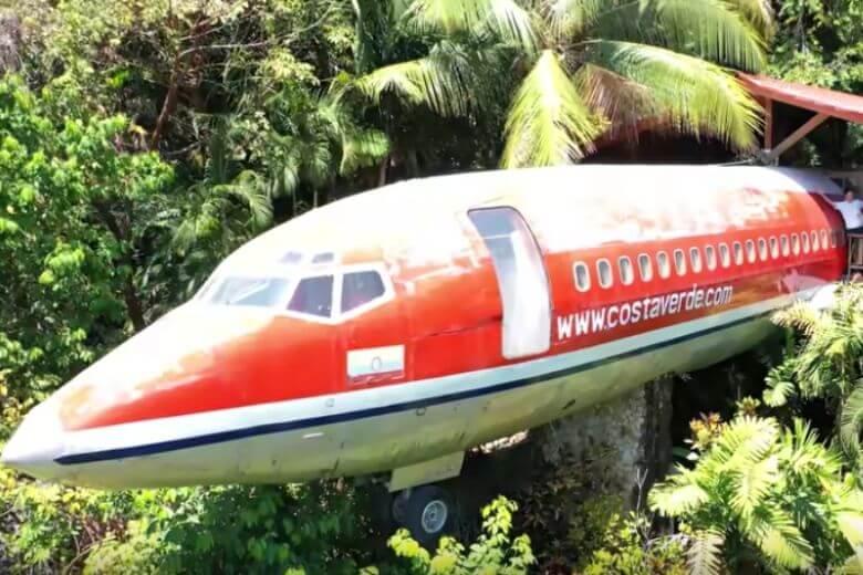 avião no meio da selva